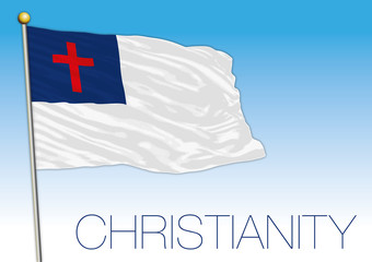 christianity flag, vector file, illustration