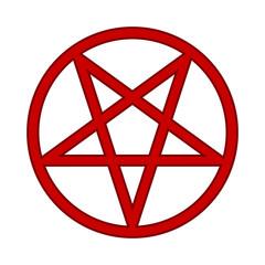 Pentagram symbol icon on white.