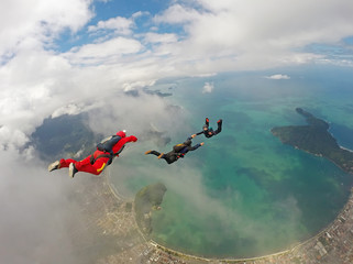 Skydiving in paradise, Ubatuba beach, Brazil