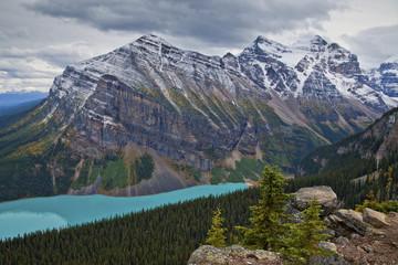 Mount Aberdeen above Lake Louise, Banff National Park, Alberta