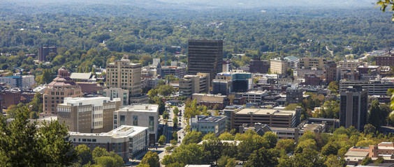 panorama of downtown Asheville, North Carolina