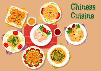 Chinese cuisine icon for restaurant menu design