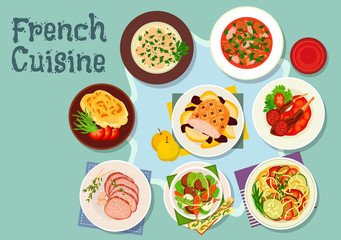 French cuisine icon for restaurant design