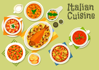 Italian cuisine healthy dinner icon