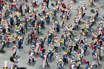 Photo exclusive figures of soldiers  the 19th century handmade closeup