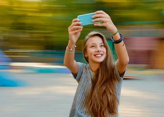 teenager girl selfie