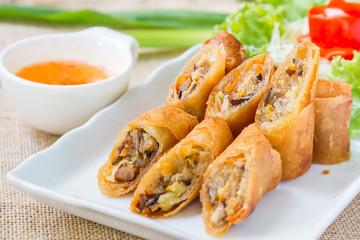 Deep fried spring rolls