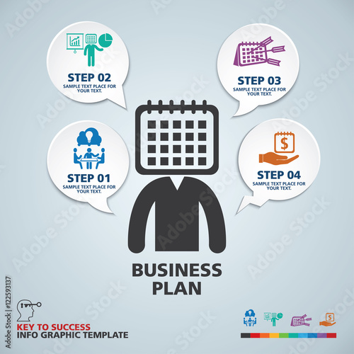 template modern info graphic design use for business marketing