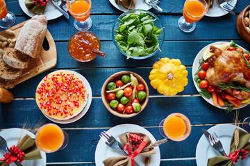 Abundant Thanksgiving table