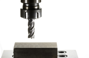 cnc milling machine - spindle with cutter, Version: natural colo