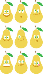 Pears emoticons