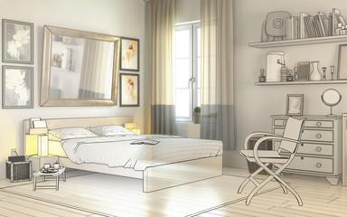 Im Schlafzimmer (Zeichnung)