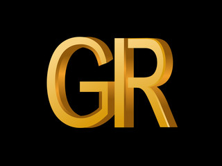 GR Initial Logo for your startup venture