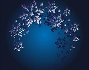 Swirl of magic snowflakes EPS10