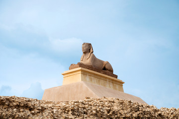 sphinx statue on the hill, Alexandria, Egypt