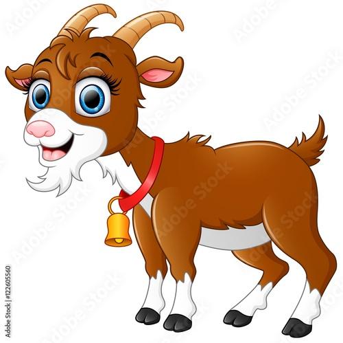 Funny goat cartoon