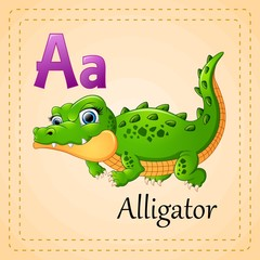 Animals alphabet: A is for Alligator
