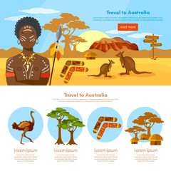 Australia travel infographics template