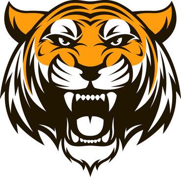 .Ferocious tiger head
