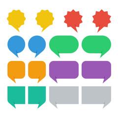 colorful speech bubbles set vector illustration