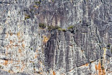 Paredes de roca de Peña Canales. Sierra de la Cabrera, Pozos, León.