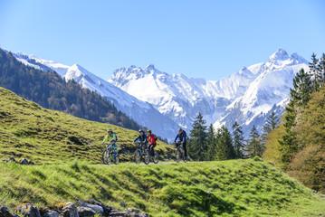 Ausflug mit den Rädern ins Gebirge