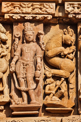 Fotomurales - Famous sculptures of Khajuraho temples, India