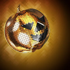 3d illustration Halloween disco ball