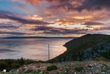 Dusk over the Adriatic Sea, Cres Island