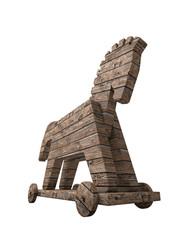 Trojanisches Pferd Holz freigestellt