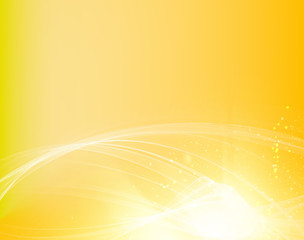 Abstract smooth lines. Science orange wave design, contains transparencies and effects. Vector background.
