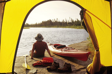 Along the Whiteshell River, Whiteshell Provincial Park, Manitoba, Canada.