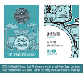 Percussionist Business Card