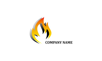 Flames. Vector logo. Flammable symbol. Fire