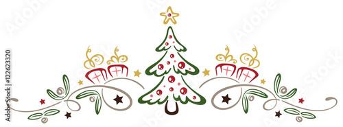 kleiner weihnachtsbaum mit misteln und geschenken. Black Bedroom Furniture Sets. Home Design Ideas