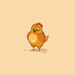 Emoji character cartoon Hen sad and frustrated