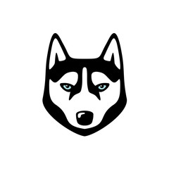Husky dog head logo