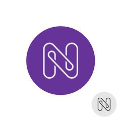 Letter N elegant linear style logo
