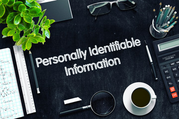 Personally Identifiable Information Concept. 3D render.