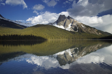 Emerald Lake and Mount Burgess, Yoho National Park, British Columbia, Canada