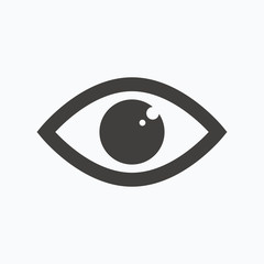 Eye icon. Eyeball vision sign.