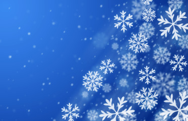 Blue blizzard background
