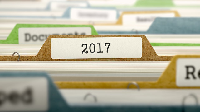 File Folder Labeled as 2017, 3D.