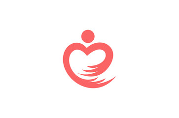 people hand love logo