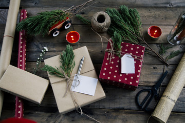 Handmade Gift wrapping for Christmas and New Year