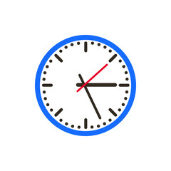 Wall clock Flat Icon Vector Illustration