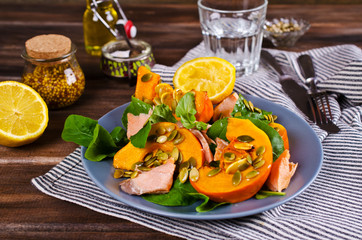 Salad with pumpkin
