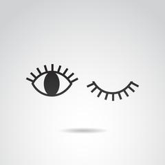 Eye vector icon.