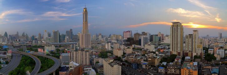 Panorama Bangkok view.