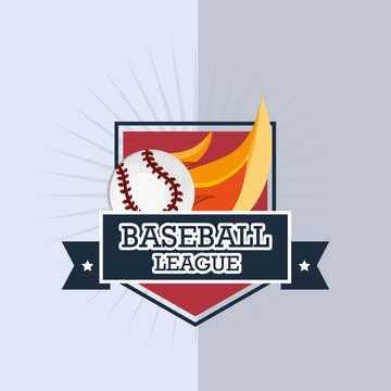basebal leaguel related icons emblem vector illustration design